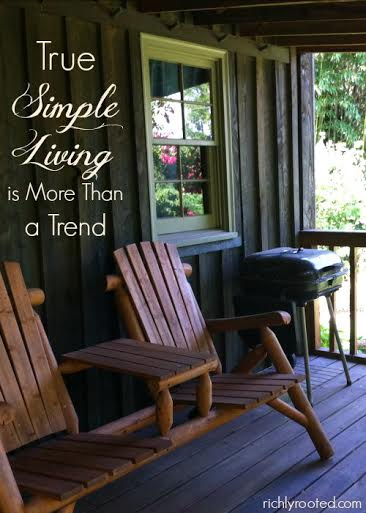simple living trend